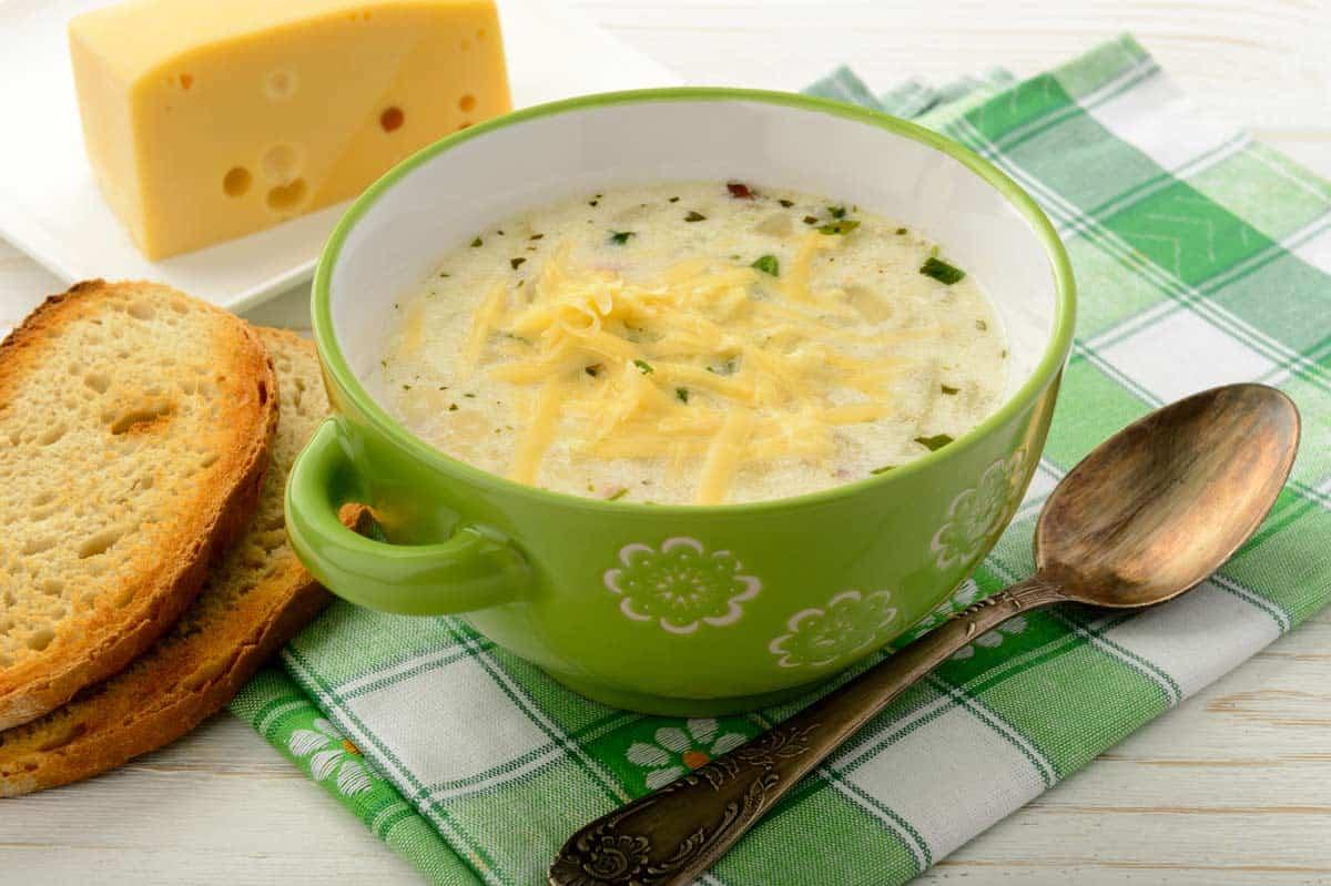 receta crema de queso